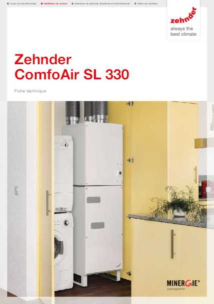 zehnder comfoair sl 330 zehnder group suisse sa. Black Bedroom Furniture Sets. Home Design Ideas